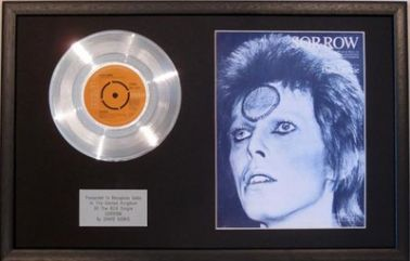 DAVID BOWIE - Platinum Disc & Song Sheet - SORROW